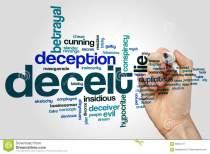 deceit word cloud