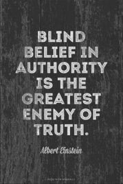 einstein quote about authority